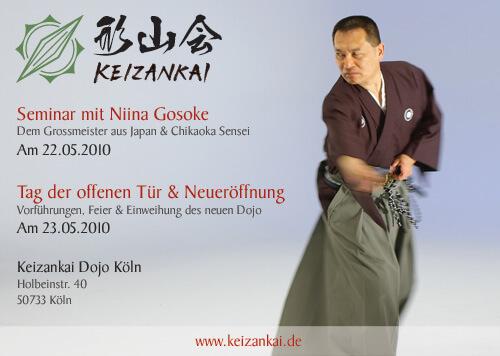 Mugai Ryu Seminar mit Niina Gosoke im Keizankai Dojo Köln