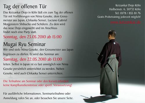 Seminar mit Niina Gosoke - Mugai Ryu Iaihyoudo Grossmeister in Köln