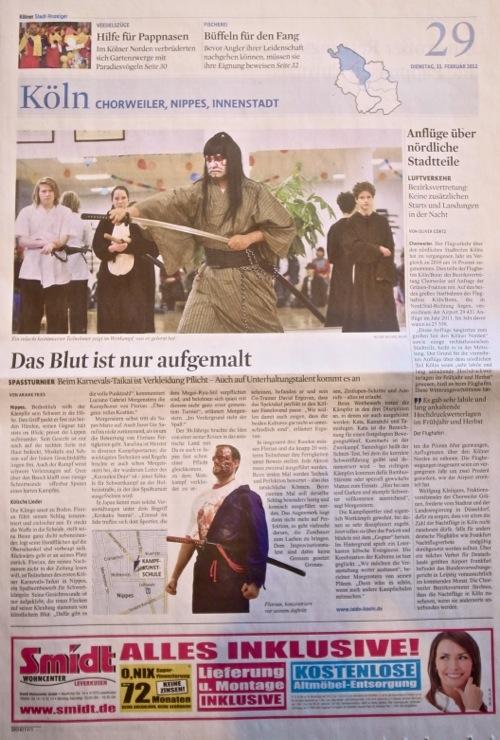Karnevalstaikai im Kölner Stadtanzeiger