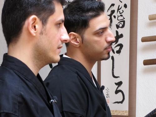 Mehrzad Marashi zu besuch im Keizankai Dojo Köln