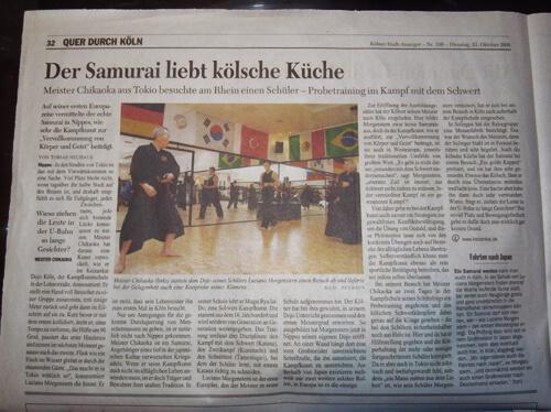 Keizankai im Kölner Stadtanzeiger